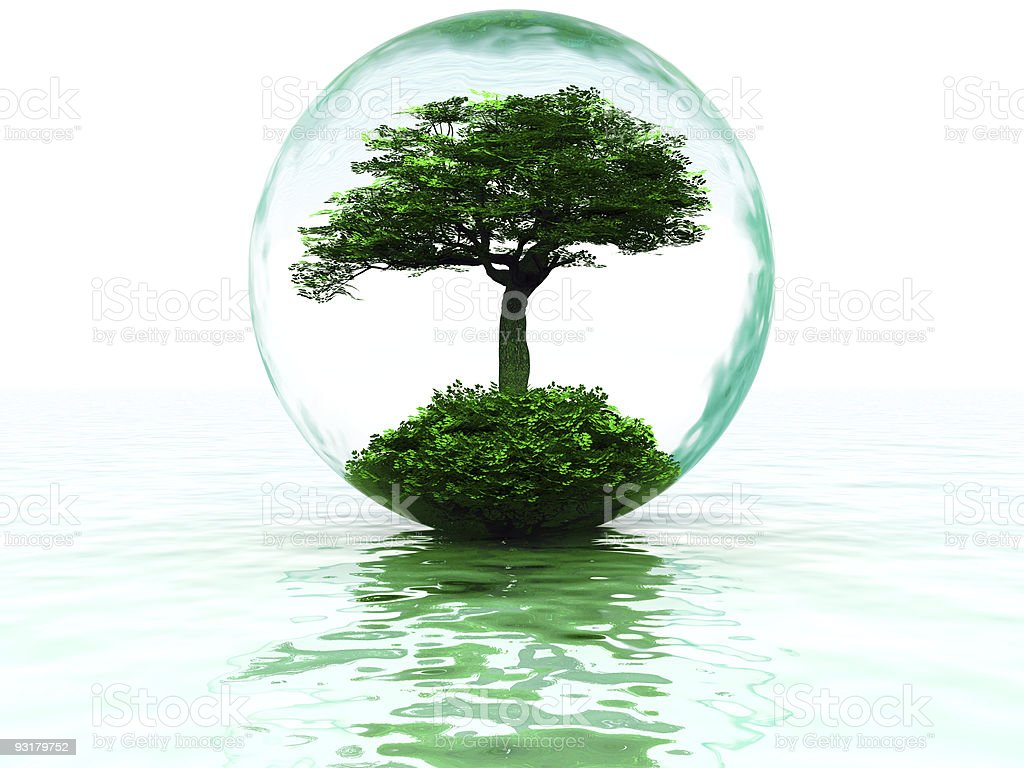 bubble with tree royalty-free stock vector art
