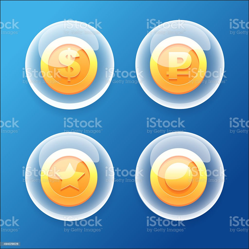 BubbleCoins stock photo