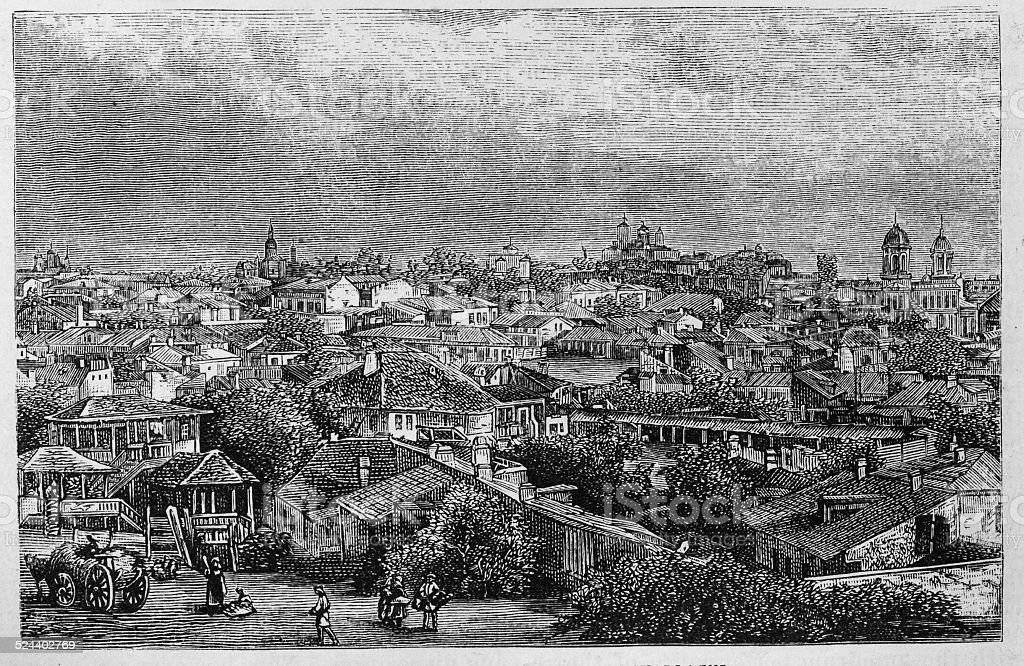 Bucharest, Capital of Roumania, in Wallachia vector art illustration