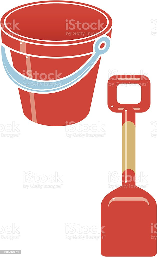 Bucket and spade royalty-free stock vector art