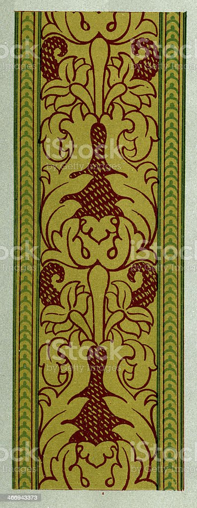 Buckle and Looped Pattern 16th Century royalty-free stock vector art