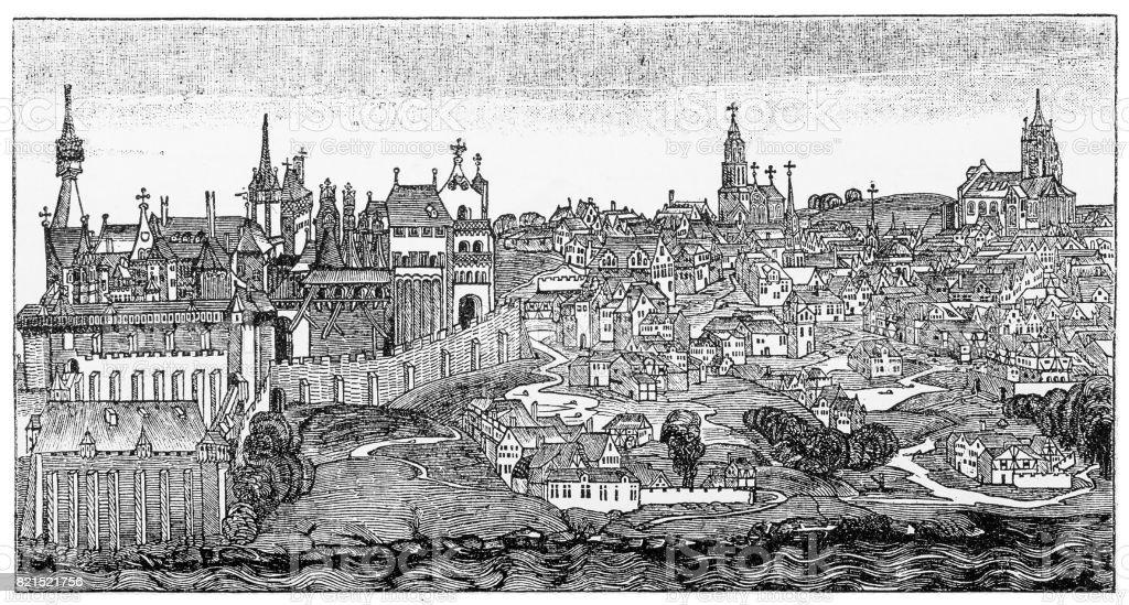 Buda 1470 vector art illustration