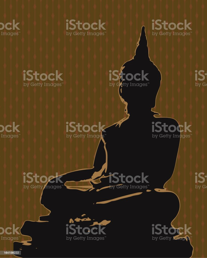 buddha background royalty-free stock vector art