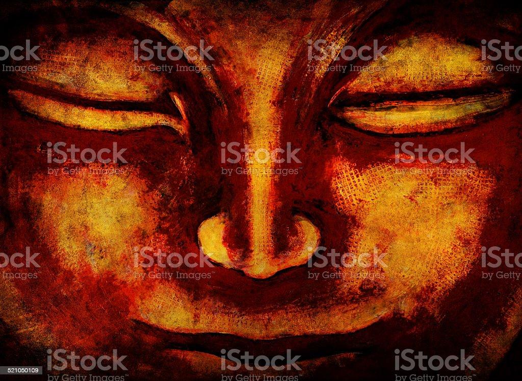 Buddha Buddhism Monch vector art illustration