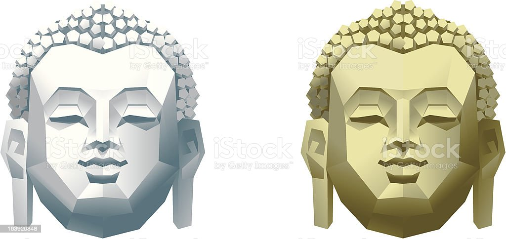 Buddha head royalty-free stock vector art