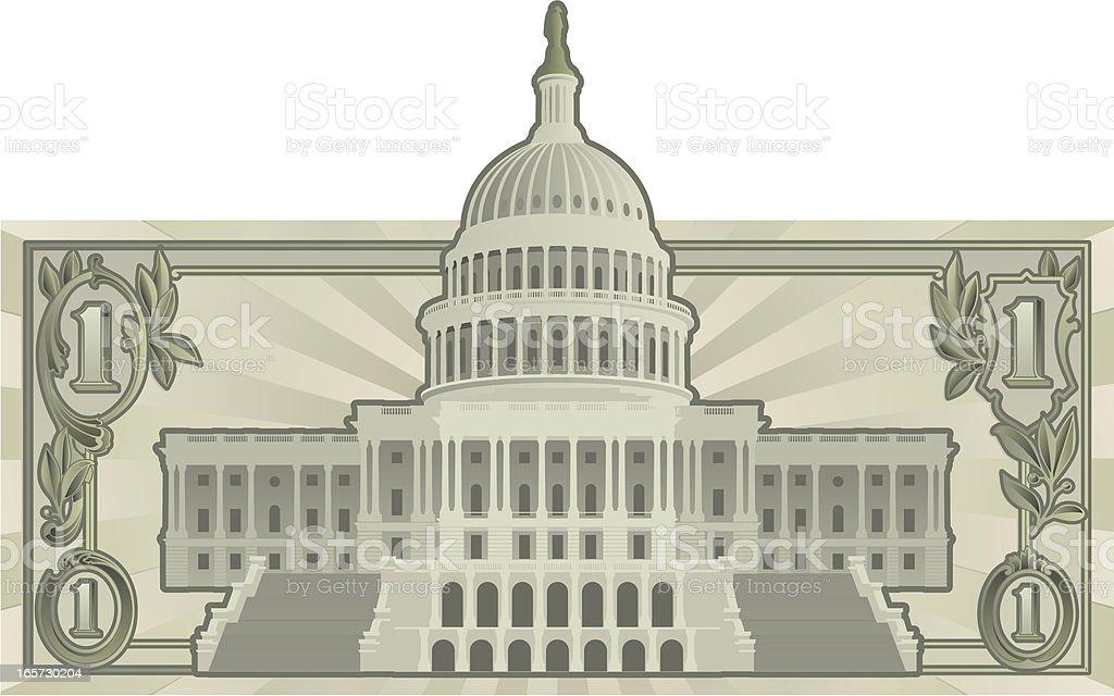 US Budget vector art illustration