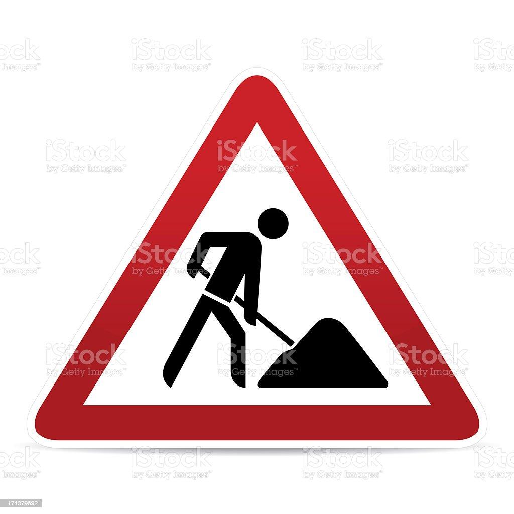 building construction site warning sign vector art illustration