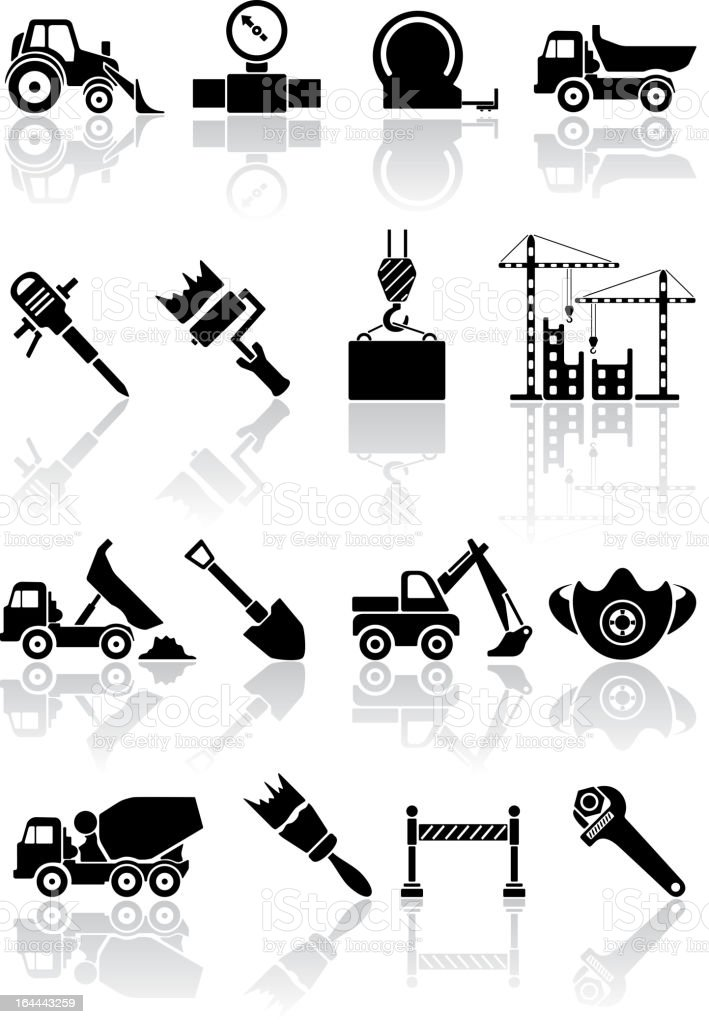 Building icons royalty-free stock vector art
