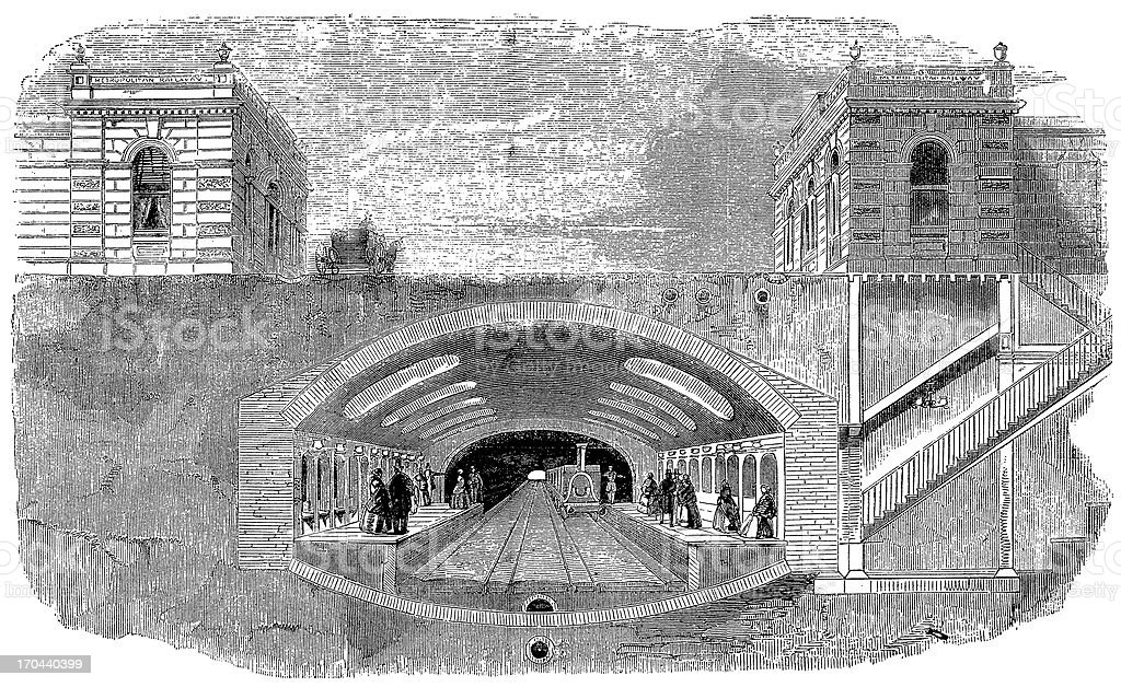 Building of the London underground royalty-free stock vector art