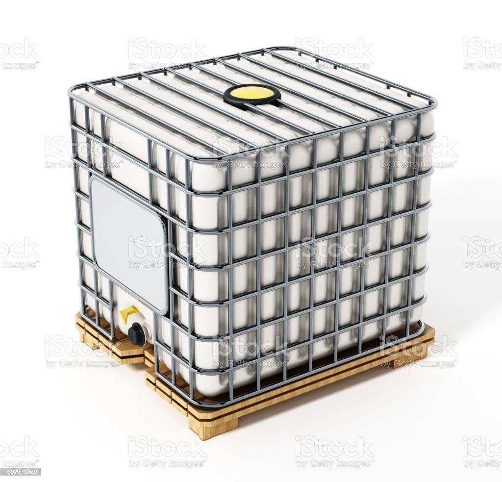 Bulk container isolated on white vector art illustration