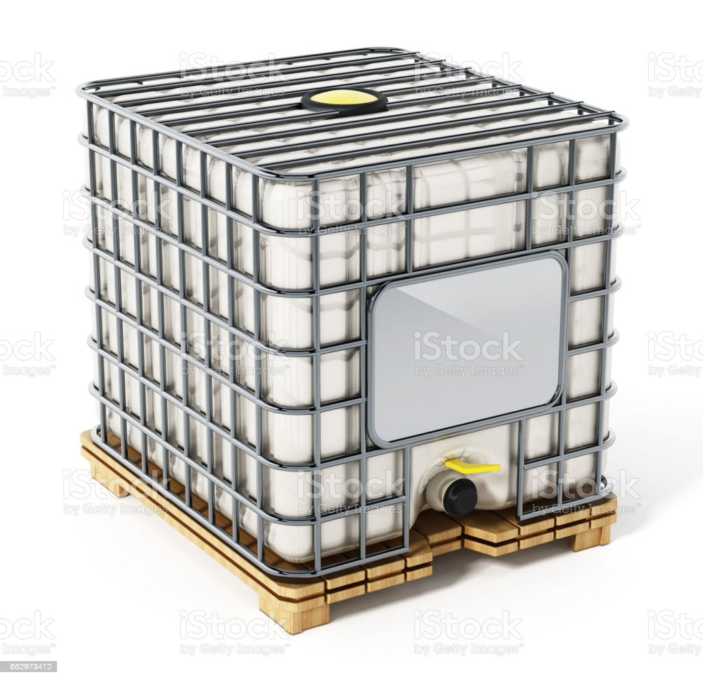 Bulk container isolated on white vector art illustration