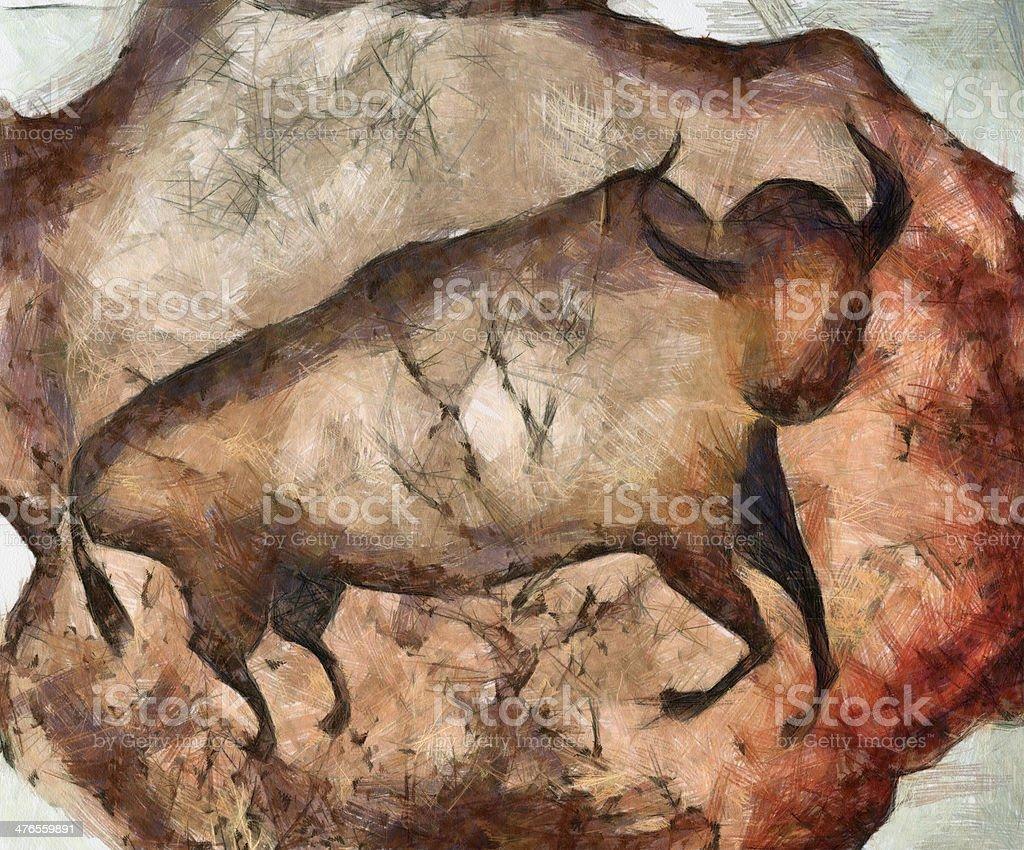 bull a la Altamira vector art illustration