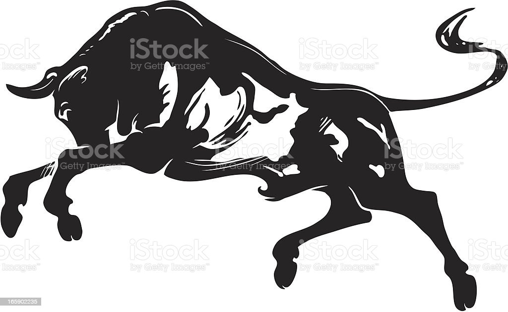 Bull royalty-free stock vector art