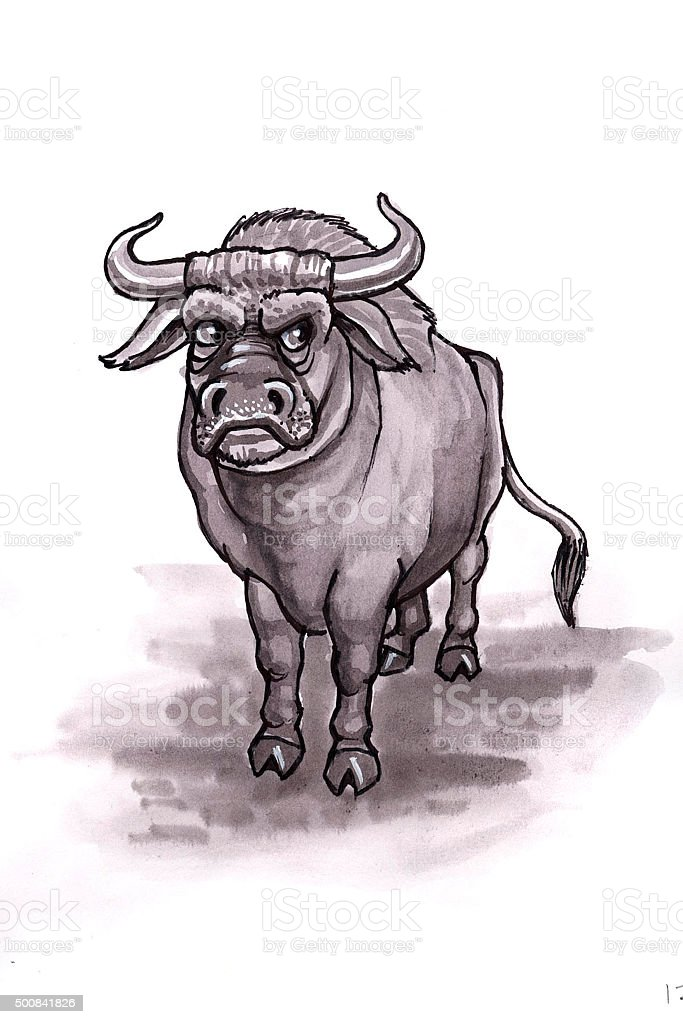 Bull (Comic Lizenzfreies vektor illustration