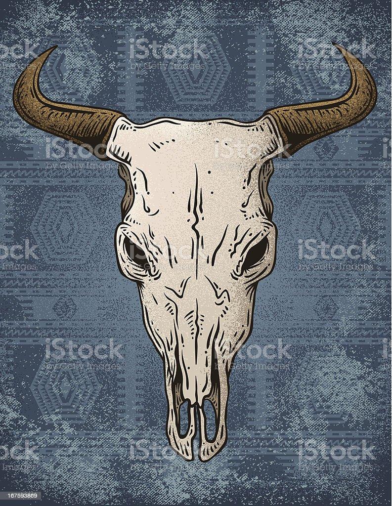 Bull Skull vector art illustration