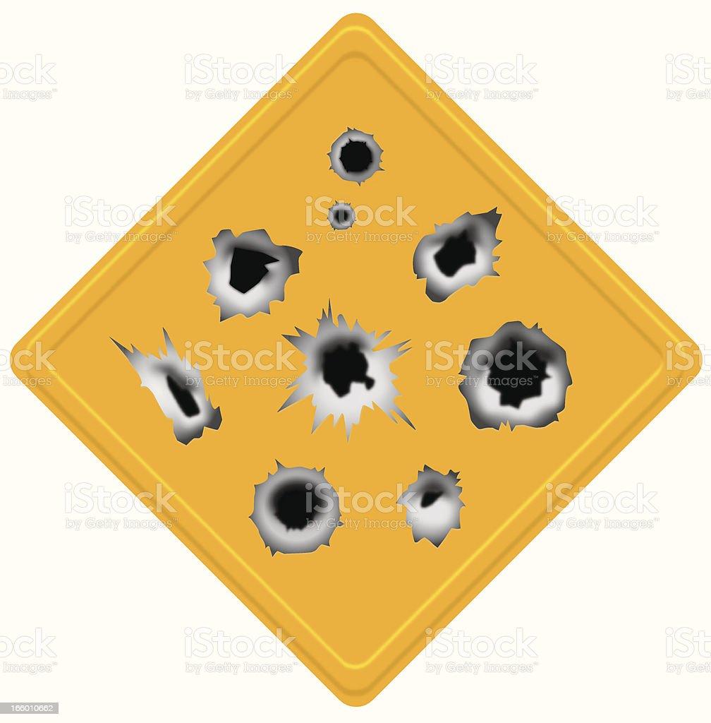 bullet holes set vector art illustration
