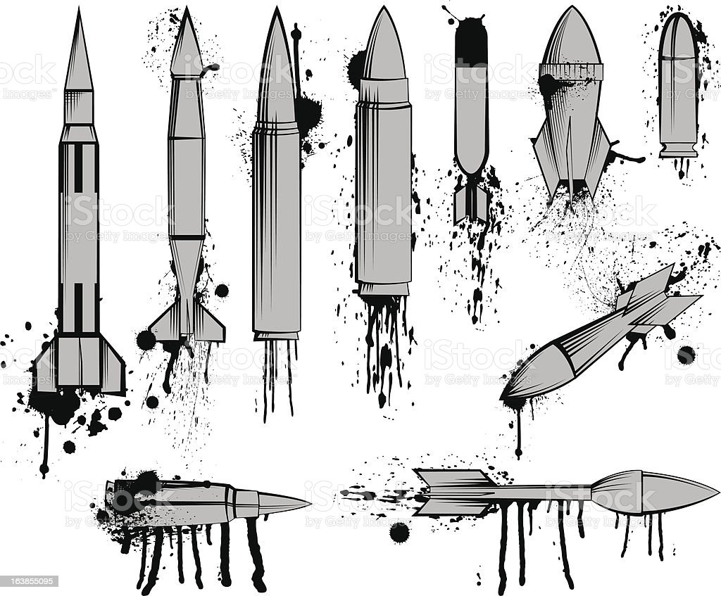 Bullets and Missiles royalty-free stock vector art