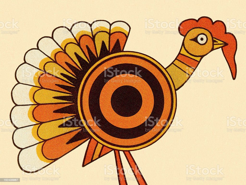 Bulls Eye Turkey royalty-free stock vector art