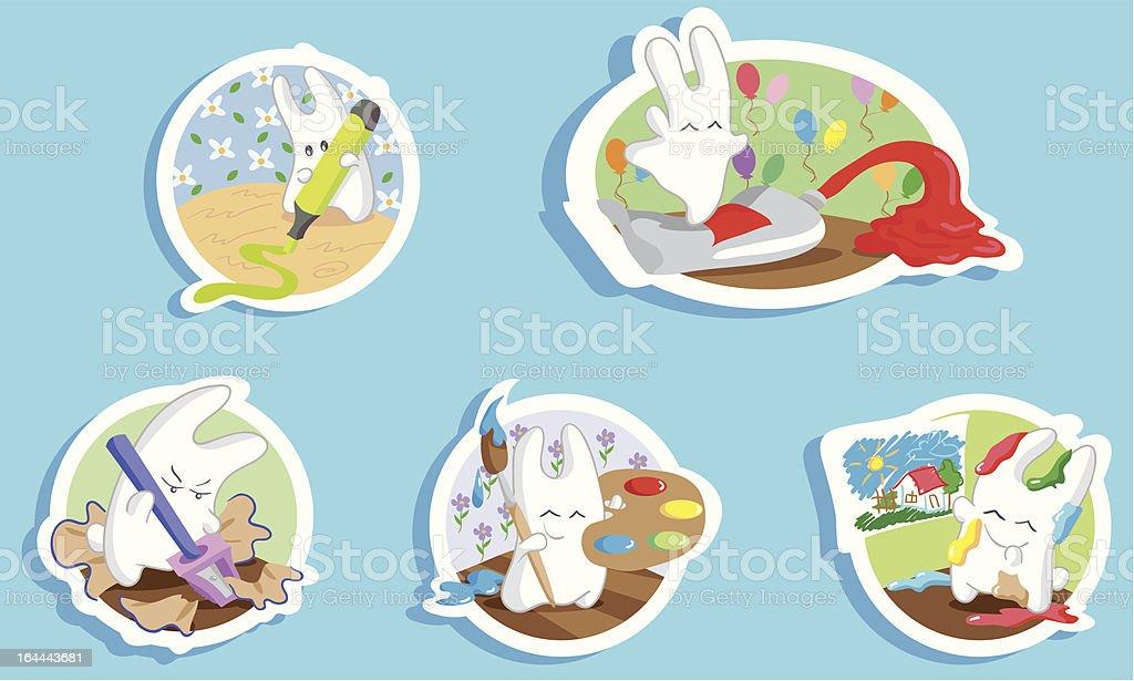 Bunny artist royalty-free stock vector art