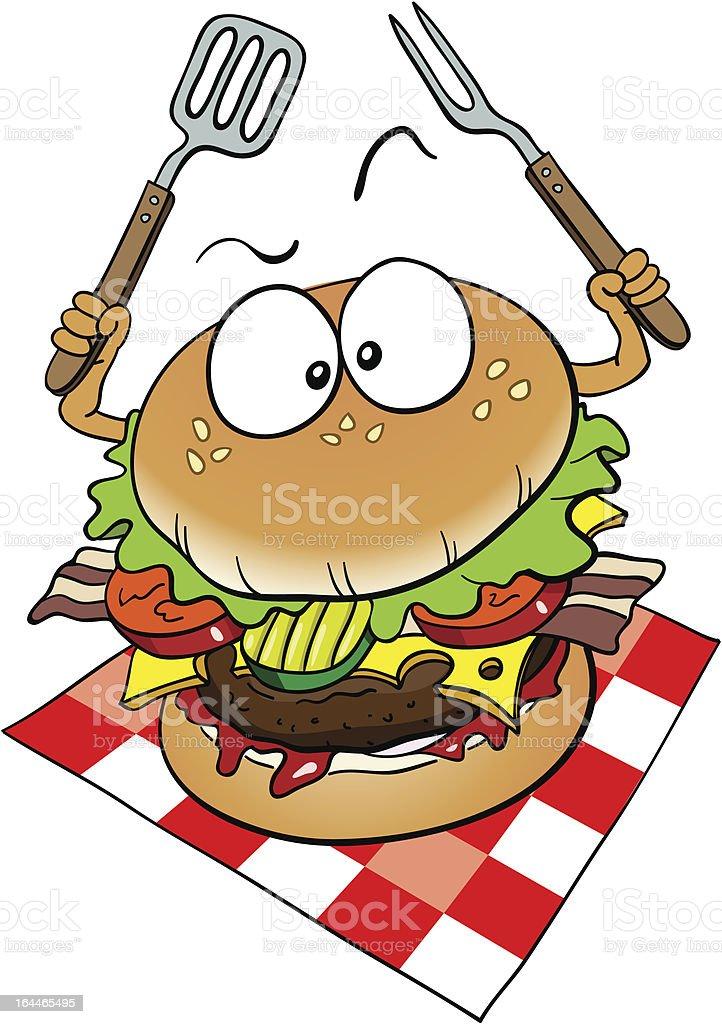 Burger royalty-free stock vector art