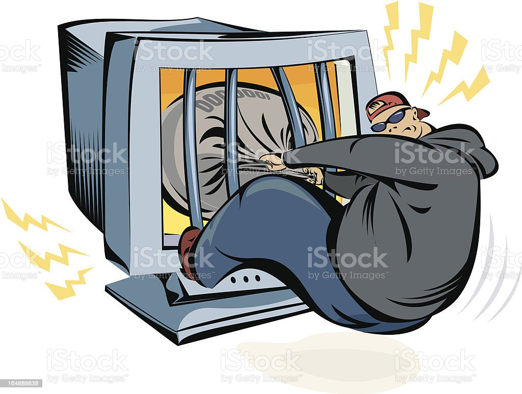 IT burglar royalty-free stock vector art