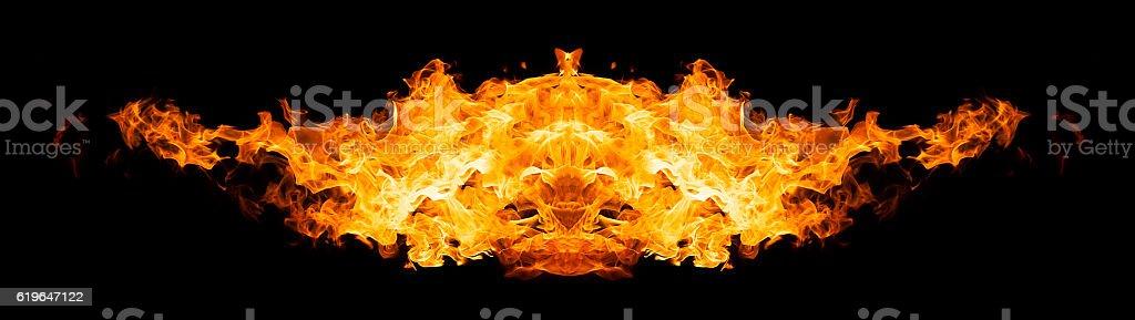 Burning bird silhouette vector art illustration