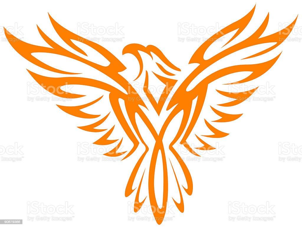 Burning Eagle royalty-free stock vector art