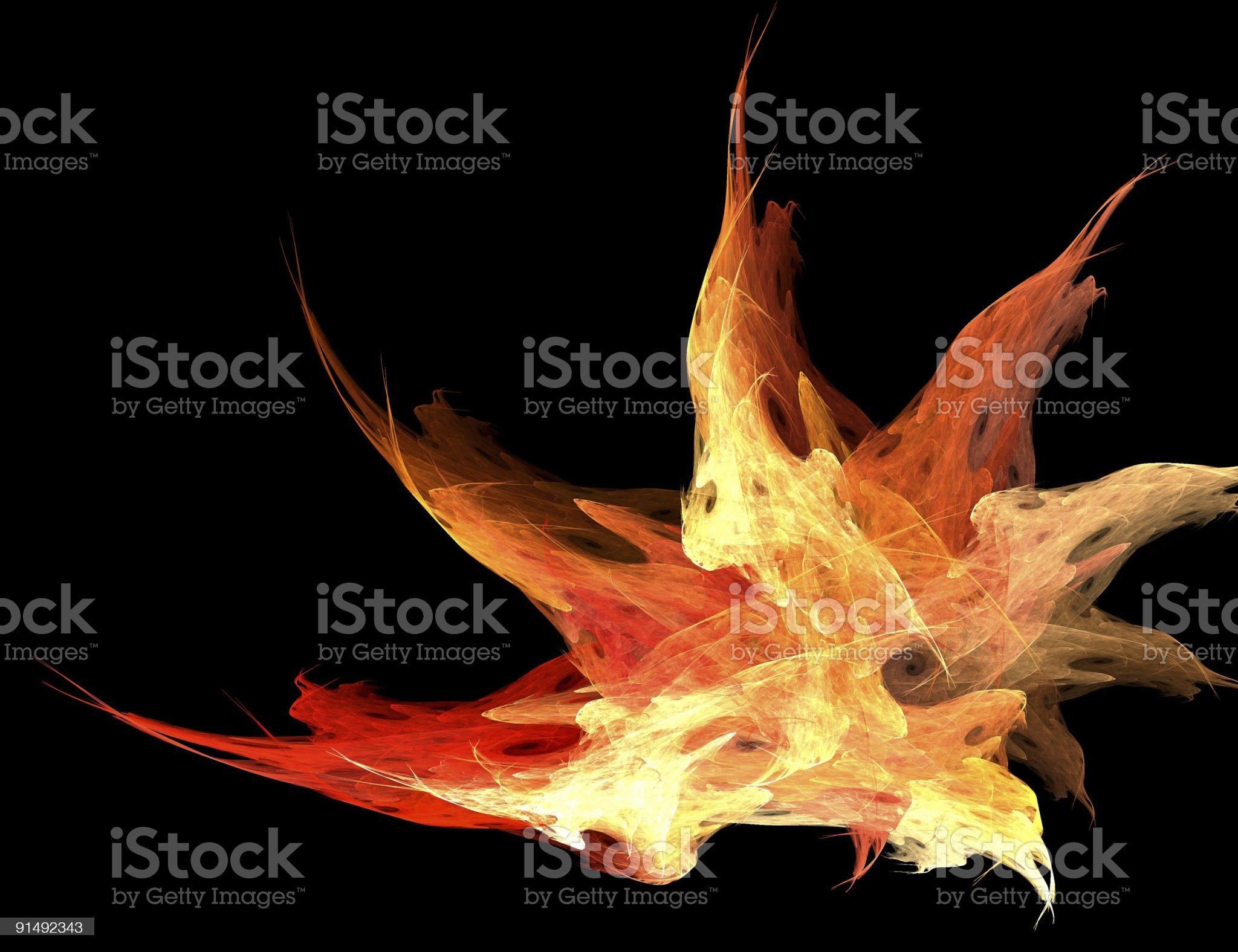 Burning Fractal Flame royalty-free stock vector art