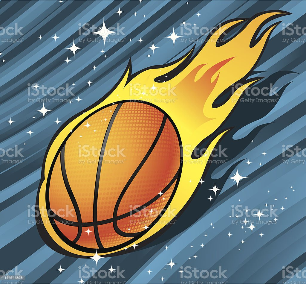 Burning Hoop royalty-free stock vector art