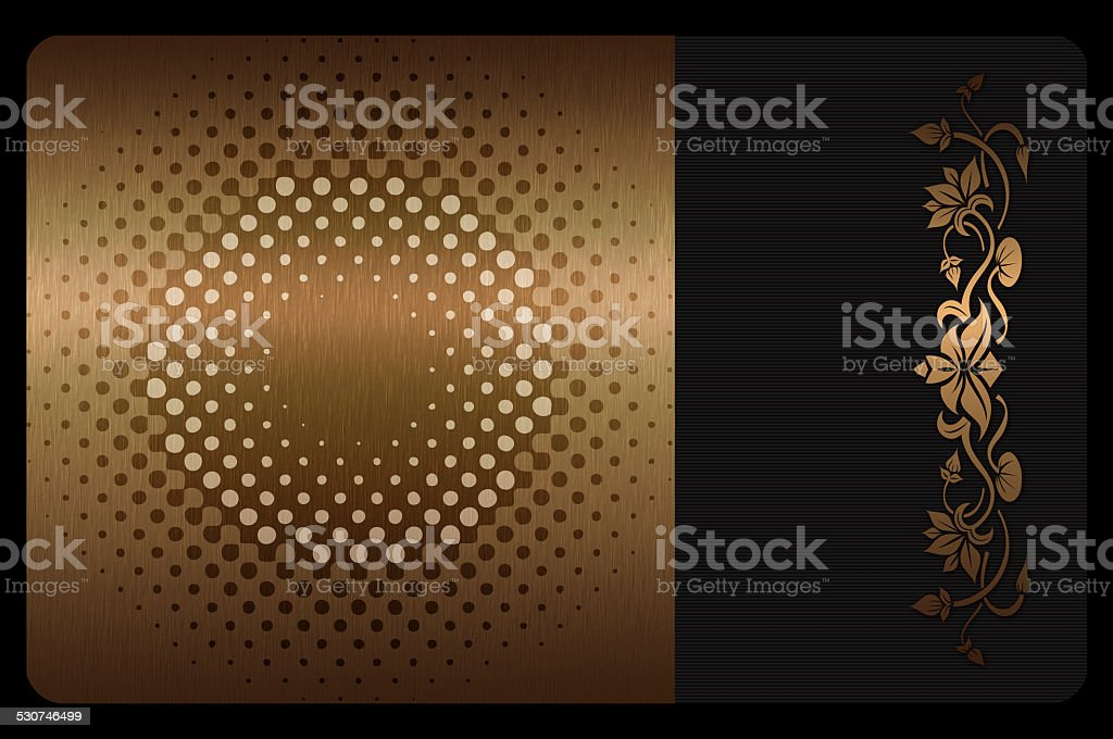 Busines or gift cards template. vector art illustration