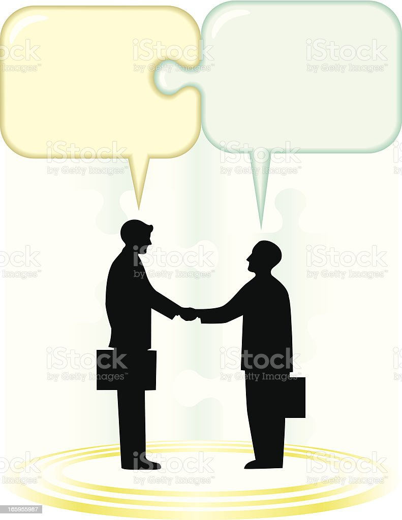 Business agreement, background royalty-free stock vector art