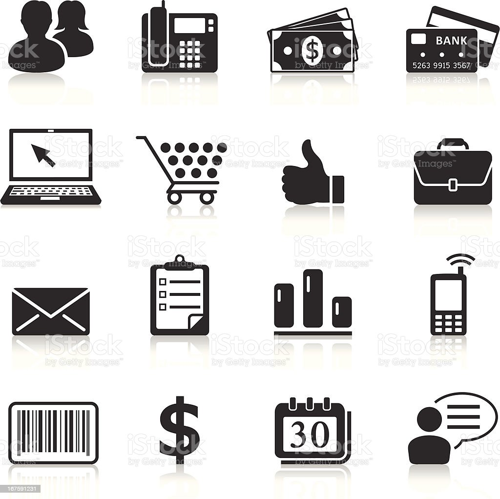 business and financial icons royalty-free stock vector art