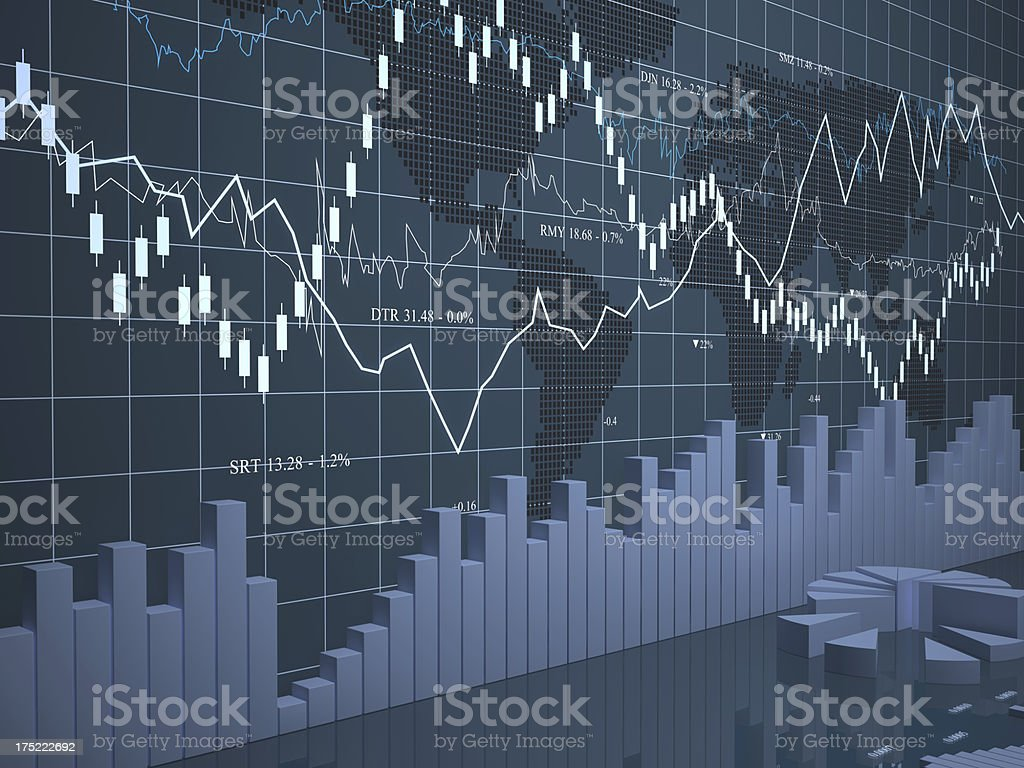 Business and financial news vector art illustration
