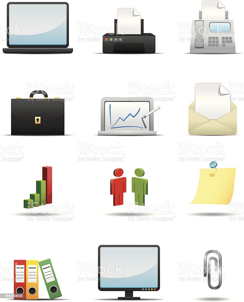 Business and Office Icon Set -- Premium Series royalty-free stock vector art