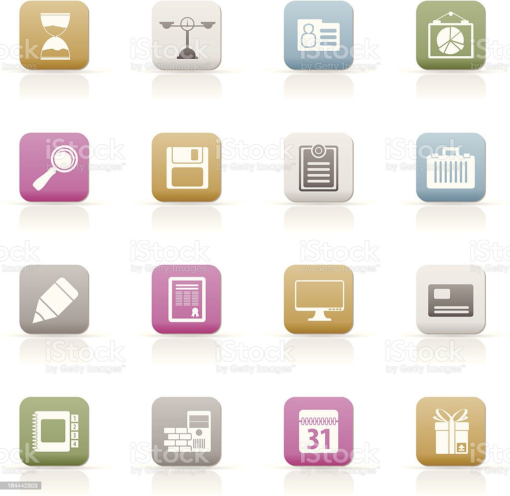 Business and office icons royalty-free stock vector art