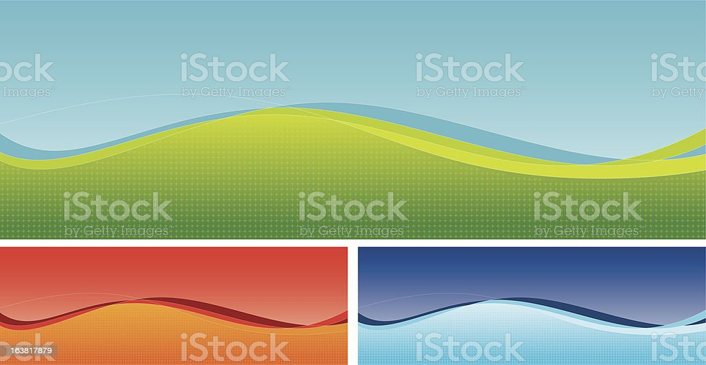 Business Banner wave form royalty-free stock vector art