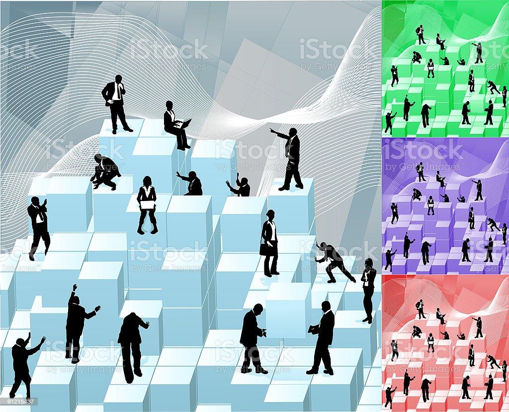Business Building Blocks royalty-free stock vector art