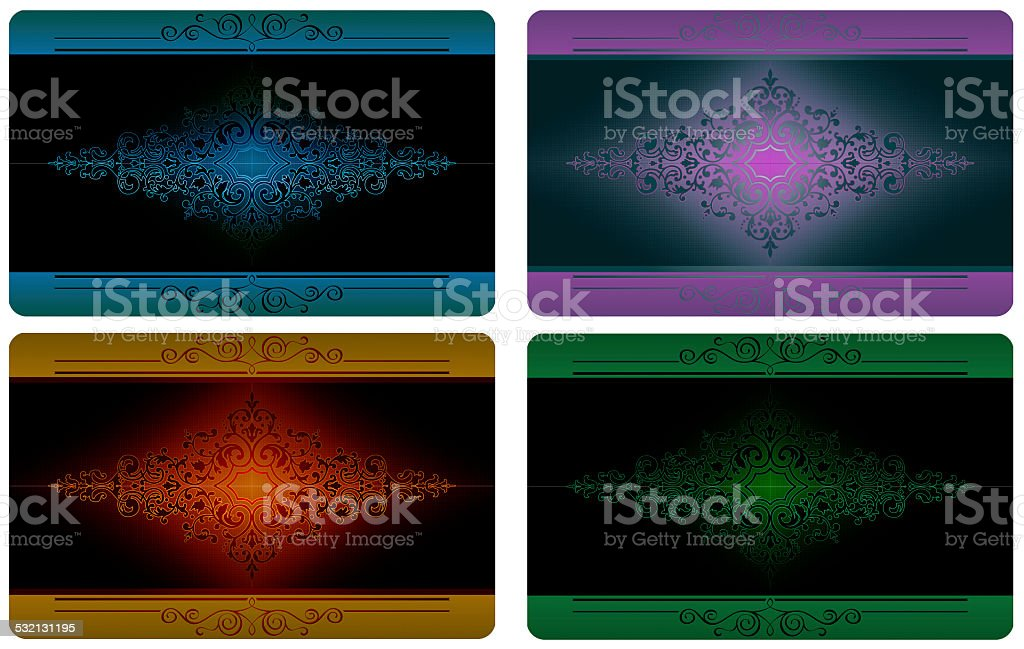 Business card templates set. vector art illustration