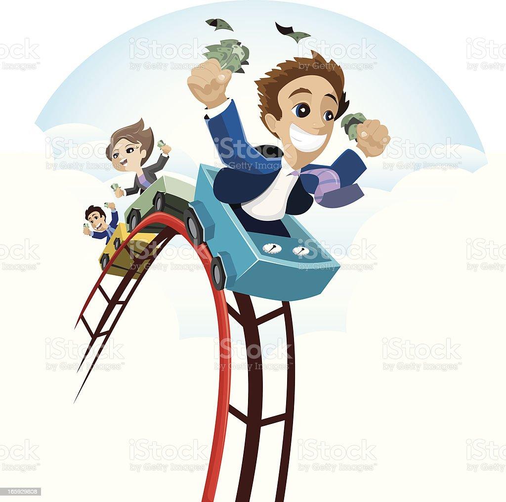 Business Coaster Downfall vector art illustration