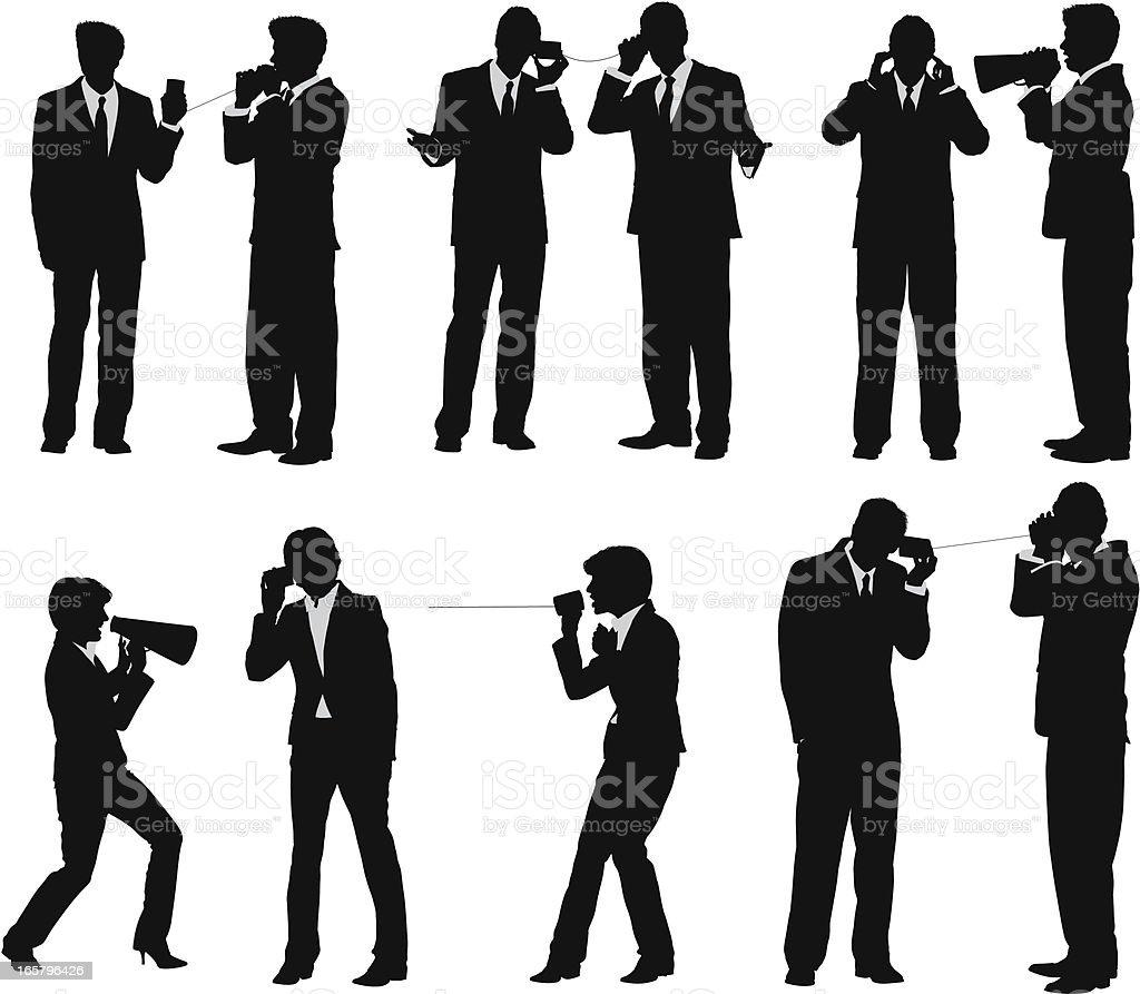 Business communication vector art illustration