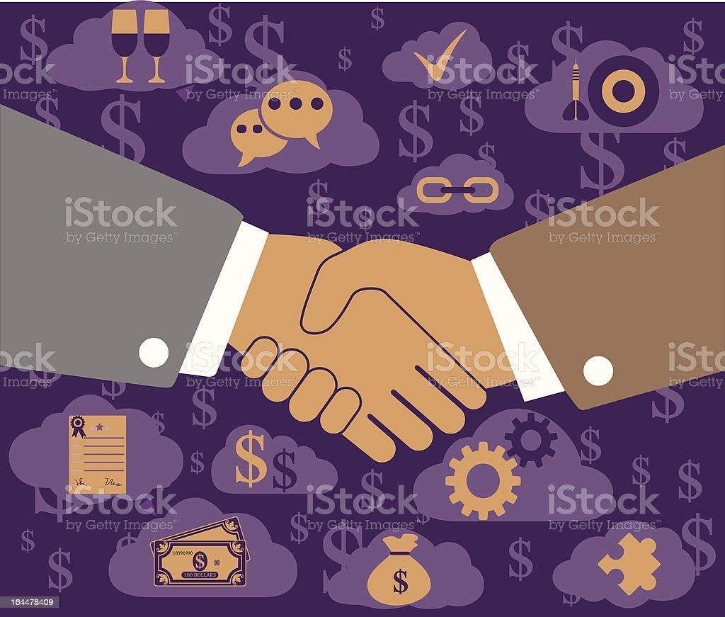 Business Cooperation vector art illustration