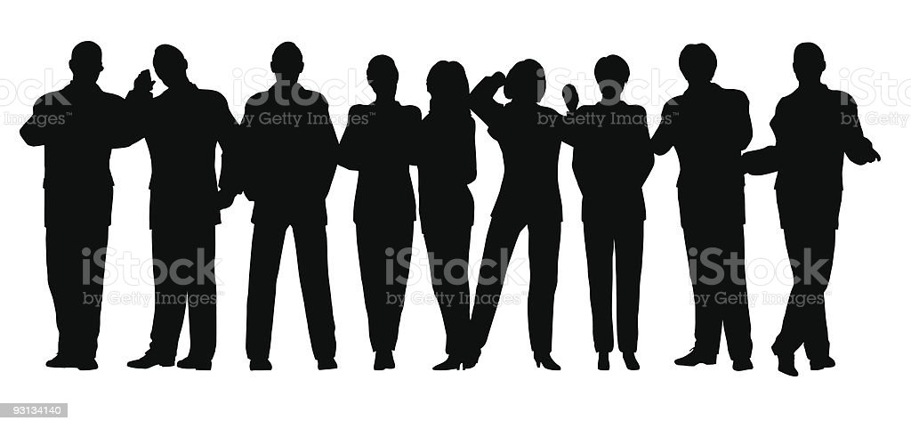 business crowd vector 2 all people movebale royalty-free stock vector art
