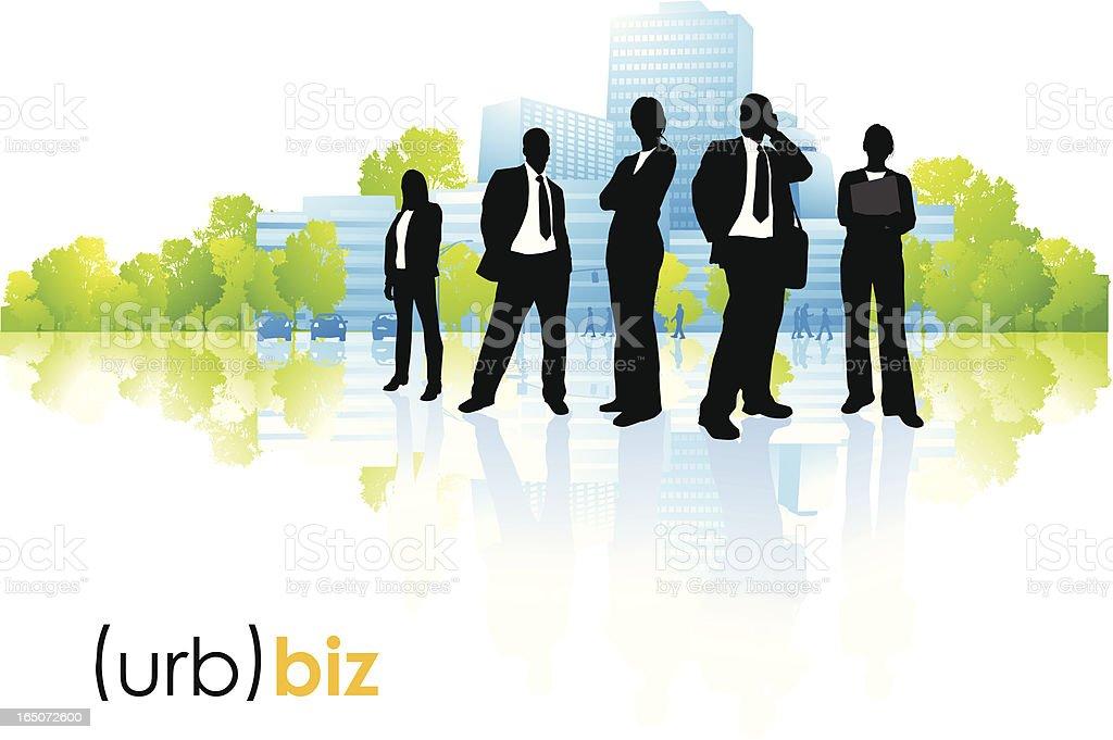Business environment vector art illustration