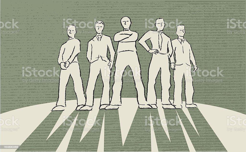 Business Gang royalty-free stock vector art