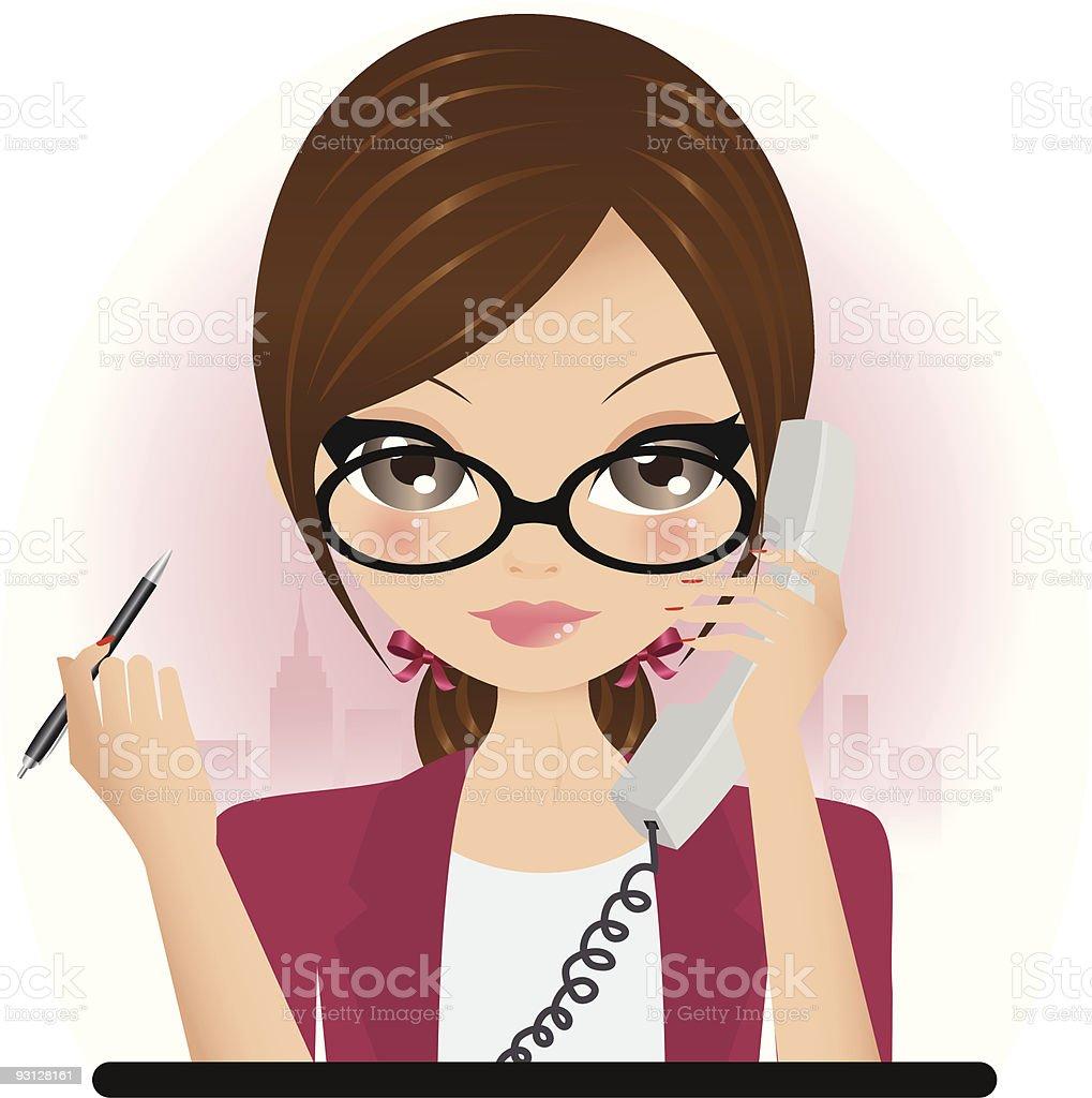Chica de negocios illustracion libre de derechos libre de derechos