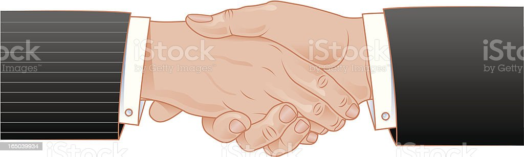 Business hand shake royalty-free stock vector art