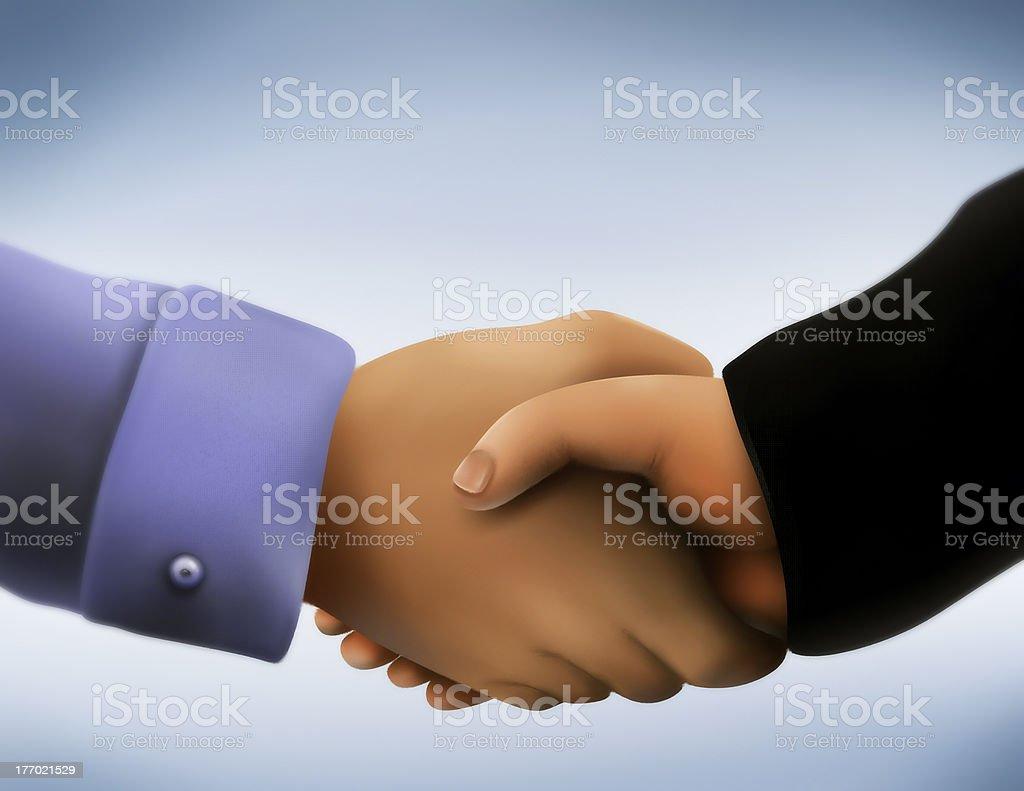 Business Handshake - Digital Painting royalty-free stock vector art