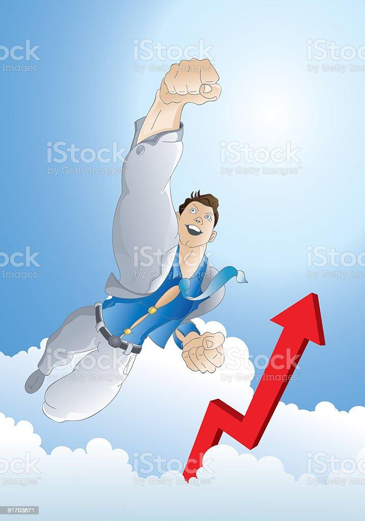 Business Hero 01 royalty-free stock vector art