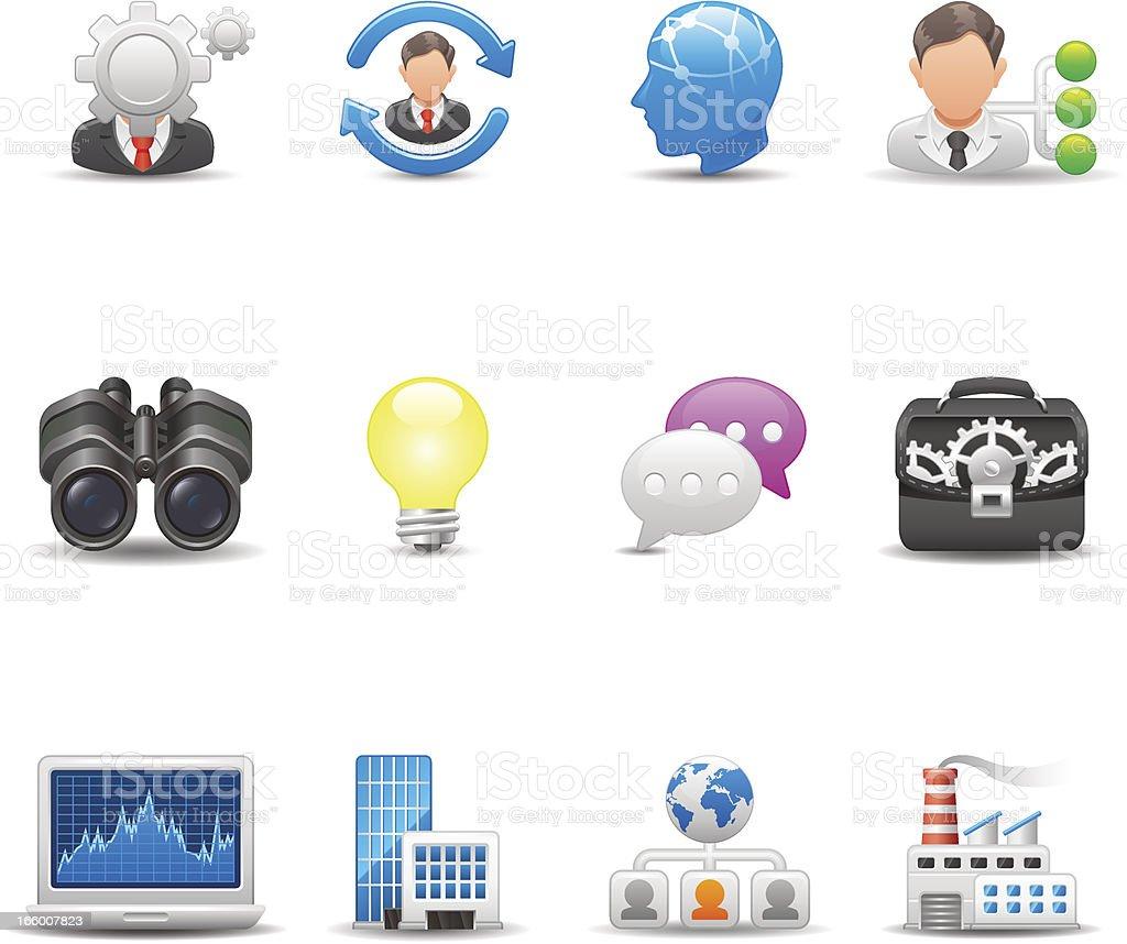 Business Icon Set | Elegant Series royalty-free stock vector art