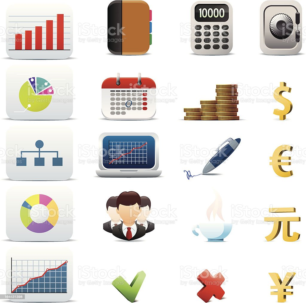 Business Icon Set royalty-free stock vector art